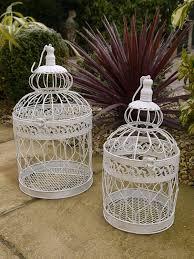 beautiful white decorative birdcage shabby chic planter amazon