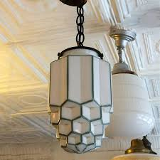 Milk Glass Pendant Light Deco Milk Glass Pendant Cityfoundry