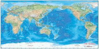 Map Of Tahiti World Pacific Centered Wo Wonders Zoom