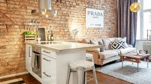 Industrial Small Apartment  Interior Design YouTube - Small apartment interior design pictures