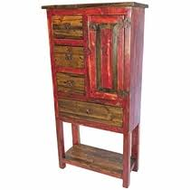 painted wood cabinets armoires and bookshelves from mexico