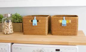 decorative laundry hampers diy laundry room organization labels i fiskars