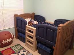 Step Boys Twin Loft Bed With Storage Walmartcom - Step 2 bunk bed loft