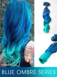 teal hair extensions colorful hair extensions vpfashion