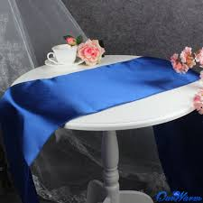cobalt blue table l amazon com ourwarm royal blue satin table runner 12 x 108 inch