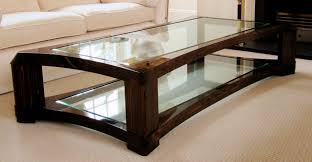 large glass coffee table awesome square wood coffee table with glass top large throughout