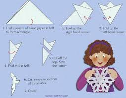 How To Make A Snowflakes Out Of Paper - how to make a snowflake out of paper images