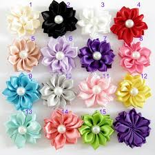 how to make baby flower headbands wholesale satin ribbon flowers 3 5cm diy baby headbands supply