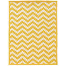 Chevron Bathroom Decor by Linon Home Decor Silhouette Chevron Yellow And White 5 Ft X 7 Ft