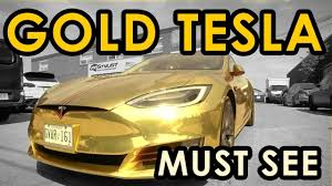 rose gold jeep gold tesla model s crazy chrome jeep and bmw 750 wrap youtube