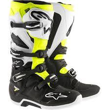 yellow boots s alpinestars 2017 tech 7 black white fluro yellow boots mxstore
