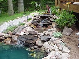 Waterfalls In Backyard Ponds by Antique Water Pump In Mesmerizing Backyard Pond Pictures With Tiny