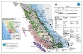 Map Of Bc Exploration And Mines