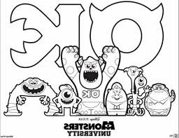coloring page monsters inc monsters inc coloring pages mike pinterest best of university