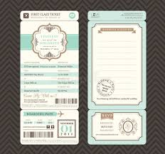 vintage style wedding invitations vintage style boarding pass ticket wedding invitation template