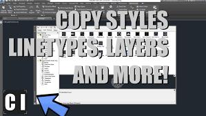 design center cad autocad tutorial design center copy styles linetypes blocks from