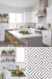 black backsplash in kitchen kitchen reno encaustic cement tile backsplash steals the show