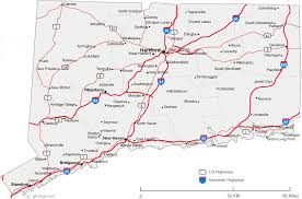 map of cities map of connecticut cities connecticut road map