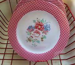 red gingham patriotic floral plates my most favorite plate u2026 flickr