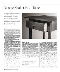 shaker end table plans simple shaker end table shopwoodworking