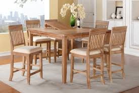 7 piece counter height dining table set with 18