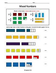 mixed number fractions worksheets worksheets