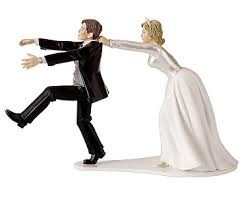 wedding toppers and groom runaway groom cake topper about dang time wedding
