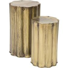 Brass Accent Table Corrugates Antique Brass Accent Table I High Fashion Home