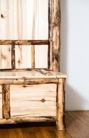 aspen ridge log tree with chest and mirror aspen ridge furniture