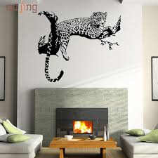 online get cheap leopard living room aliexpress com alibaba group prevalent 2017 cute new leopard wall stickers living room bedroom decoration removable poster wallpaper drop shipping