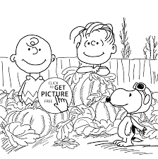 charlie brown and pumpkins coloring pages for kids printable free