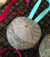 diy sand dollar christmas ornament craft from pismo beach vacation
