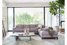 kellan sectional sofa with right chaise gray tweed sofas capsule