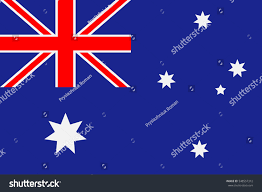 Australia Flags Australia Flag Blue Background Sixpointed Stars Stock Vector