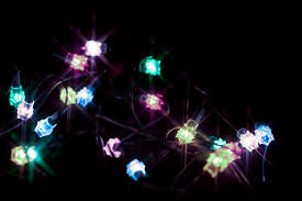 photo of strand of glowing christmas lights free christmas images