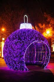 winter park christmas lights big gazebo christmas balls in winter park stock image image of