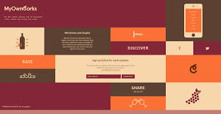 my own corks great use of web design trends