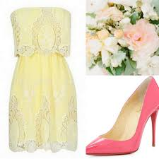 yellow bridesmaid dress ideas pale yellow