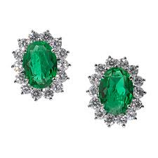 emerald rings wholesale images Catherine royal green omega clip earrings ciro jewelry black tie png