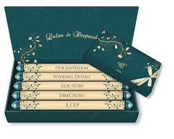 email wedding card mini scroll box style design 12 luxury