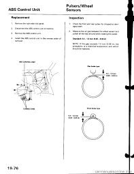 brake sensor honda civic 1997 6 g workshop manual