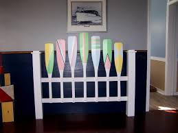 themed headboards accessories nautical headboard pastel paddles oars