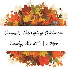 community thanksgiving service poovey s chapel baptist church