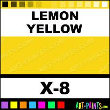Yellow Mustard Color Lemon Yellow Color Acrylic Paints X 8 Lemon Yellow Paint