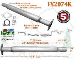 fx2074k exhaust flange resonator repair pipe century regal impala