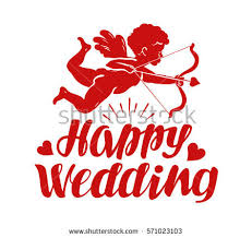 Wedding Wishes Designs Wedding Marriage Nuptial Vector Logo Design Stock Vector 296722766