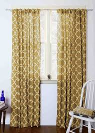 yellow geometric curtains block printed and naturally dyed ichcha