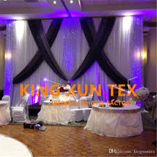 wedding backdrop prices wholesale price white and black 3m 6m wedding backdrop curtain