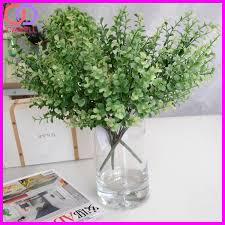 wholesale ornamental green eucalyptus plastic artificial foliage