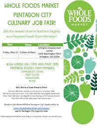 Cook Prep Resume Whole Foods Hiring Event Arlington Emp Ctr Arlington Employment